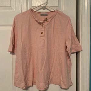 Urban Outfitters Pink Button Tee Shirt XL